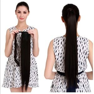 """18"""" Straight Ponytail Human Hair Extensions"""